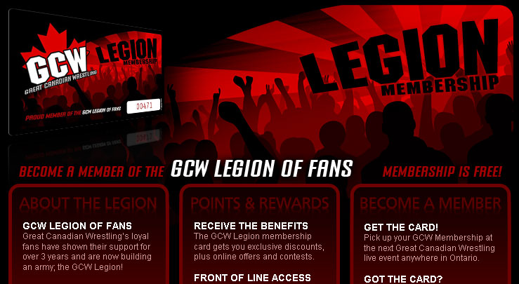 GCW Legion Membership - Join the Legion of Fans